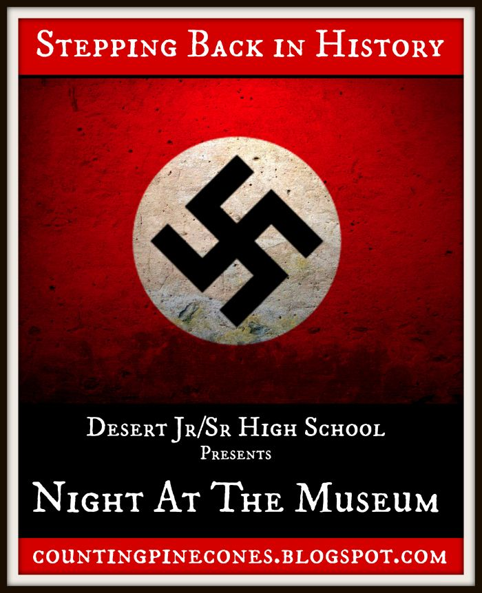 """High school students present """"living history"""" exhibits about Nazi Germany, The Russian Revolution , the 1920s and Prohibition and more."""