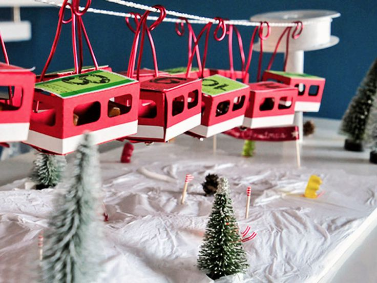 diy anleitung seilbahn adventskalender basteln via. Black Bedroom Furniture Sets. Home Design Ideas