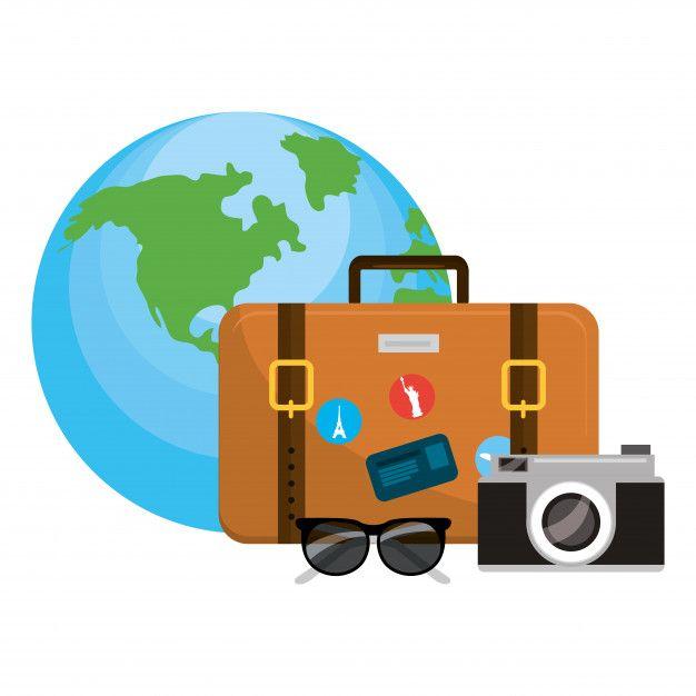Desenhos Animados De Bagagem De Viagem Desenho De Viagem
