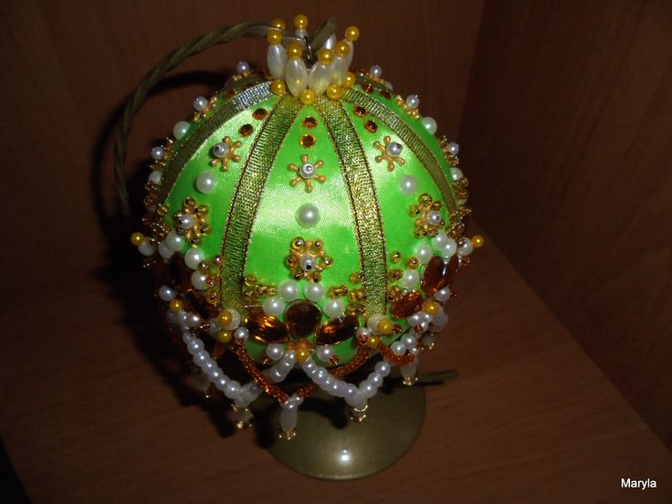 Hobby- moje rękodzieło/ bombka ozdobiona koralikami // Hobby- my crafts / bauble decorated with beads