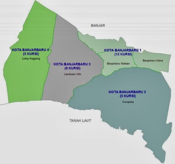 jumlah desa, tps dan pemilih di kota banjarbaru