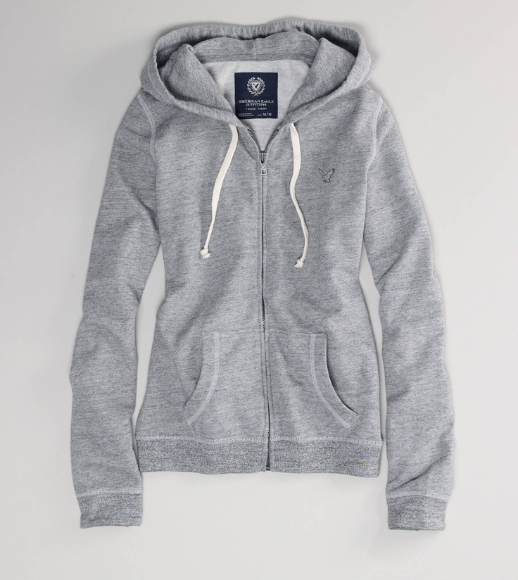 grey zip up hoodie