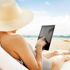 Image result for Ipad by the beach