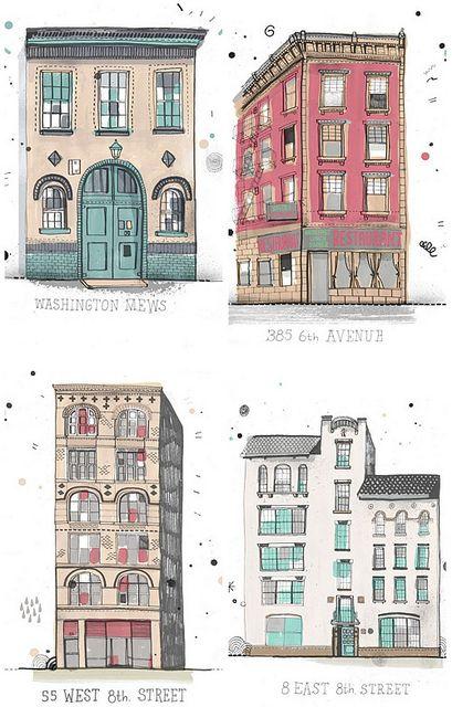Ilustraciones de edificios