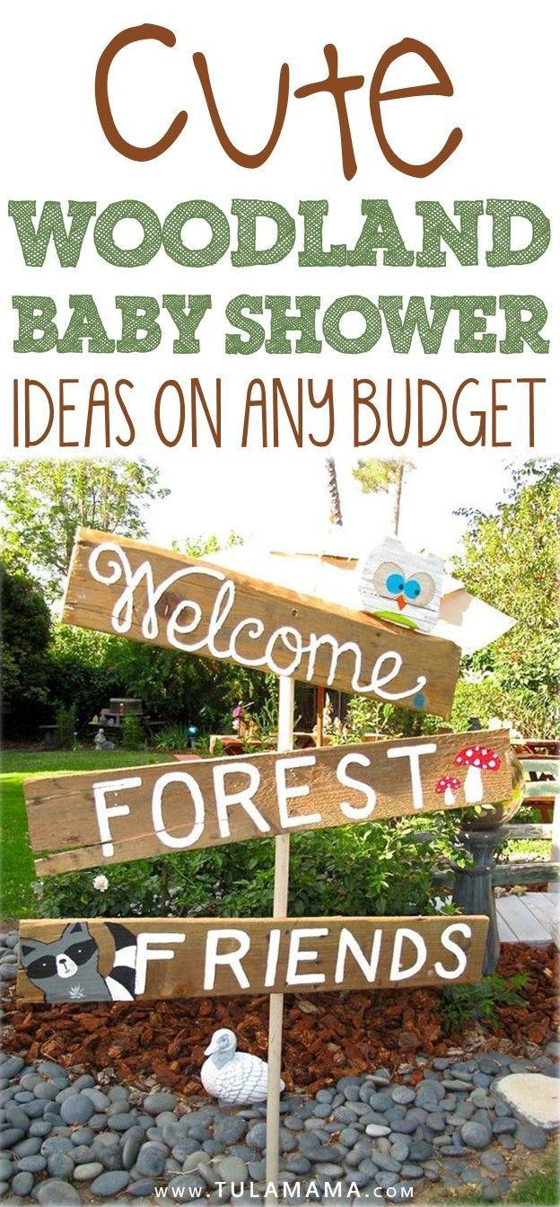 Niedliche Waldbaby-Duschen-Ideen für irgendein Budget