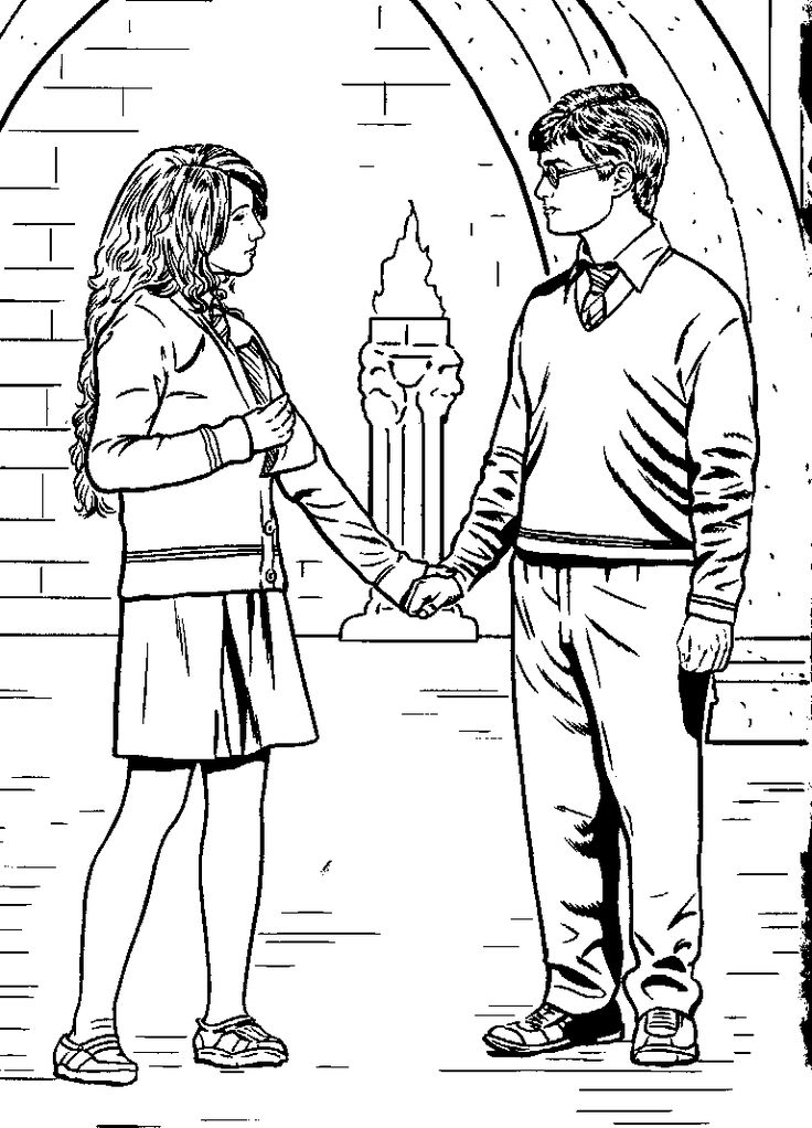 luna and harry lego harry potter coloring pages - Harry Potter Coloring Pages Ginny
