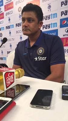#TeamIndia Head Coach Anil Kumble addressed the media in Mumbai ahead of the 4th Test #INDvENG