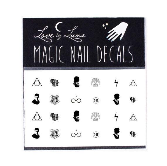 Harry Potter Nagel Decals / Nägel Harry Potter / Harry Potter Nagel umschließt / Nagel Decals / die Heiligtümer des Todes / Assistenten / Magic Nail Decal