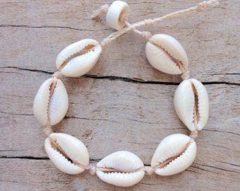 cowrie shell bracelet little mermaid bracelet by beachcombershop
