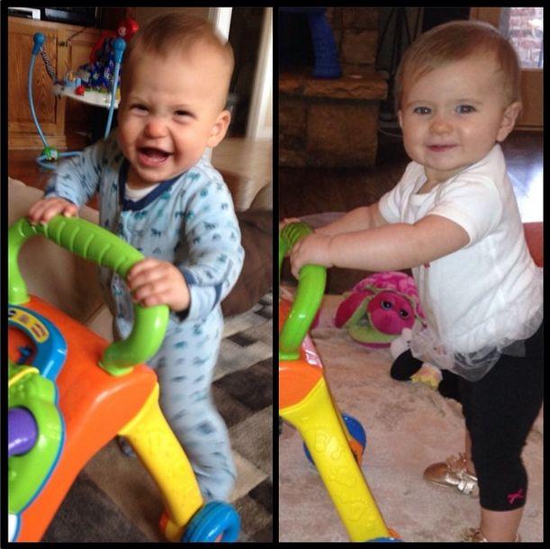 How cute are my niece and nephew? #babeetalk #toocute #babies