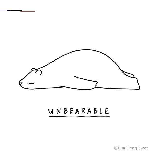 Illustrated Animals Lie Flat On The Floor With Clever Puns Describing Their Varying Moods Artist Lim Hem Swee In Kuala Lumpur Malay In 2020 Cute Puns Animal Puns Puns
