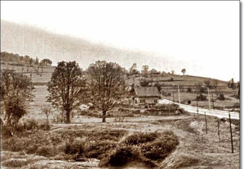 Altunizade'den Küçük Çamlıca ya giden yol. (1940'lar)
