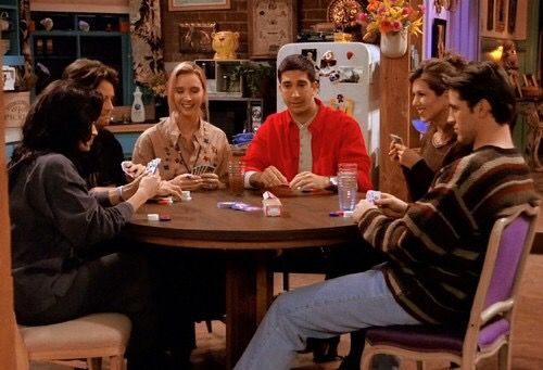 Friends playing poker, Friends TV show