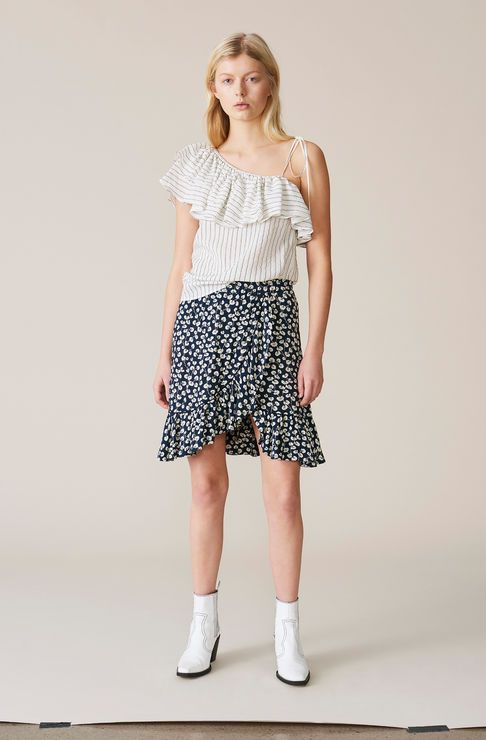 c331d63b Roseburg Crepe Mini Skirt, Total Eclipse | GANNI Global Citizen | Spring  Summer 2018 | Tøj