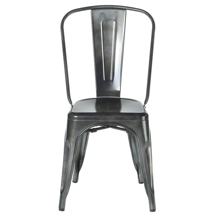 FREE SHIPPING! Shop AllModern for PoliVaz Industrial Metal Side Chair Stackable - Great Deals on all  products with the best selection to choose from!