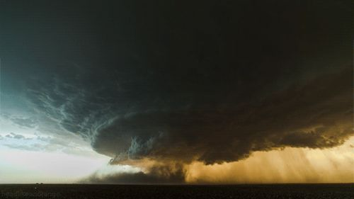 unfortunately this is real, super cell near Texas, it´s a gif, if you click it, see it moving.