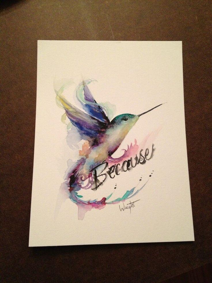 hummingbird watercolor tattoo | watercolor hummingbird tattoo design painting