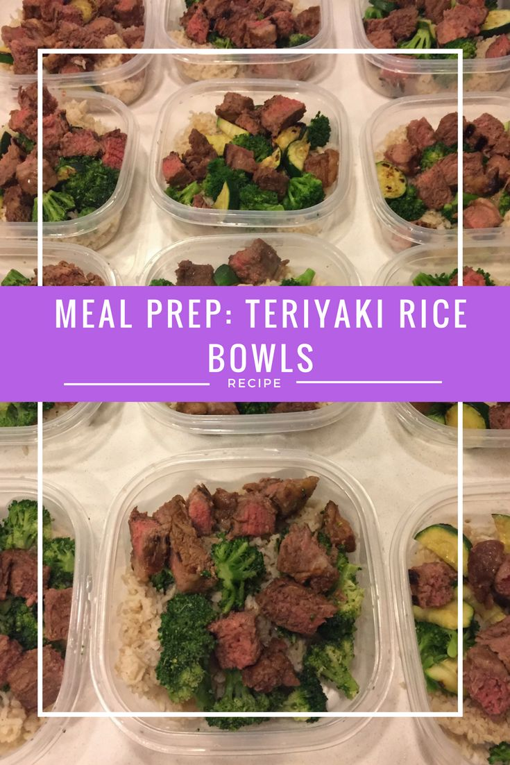 Meal Prep: Steak Teriyaki Rice Bowls Get healthy this year, make 2017 your year!!