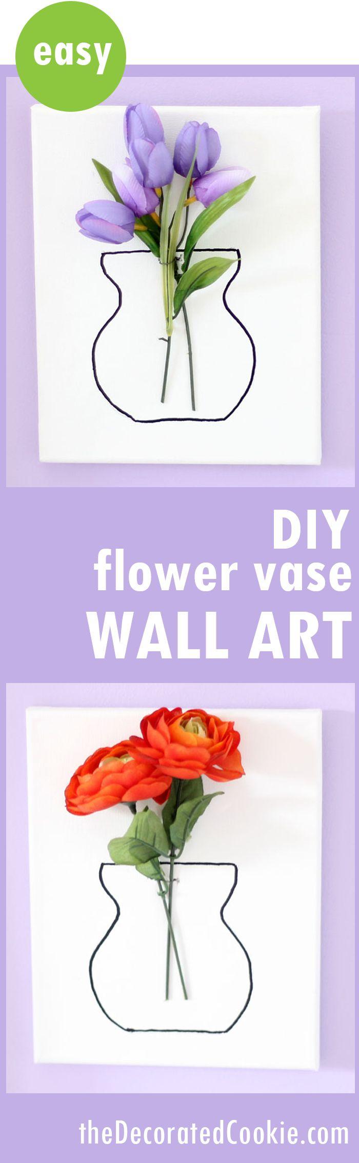 Virtual craft club diy vinyl wood slice sugar bee - Diy Flower Vase Wall Art Is A Quick And Easy Home Decor Craft