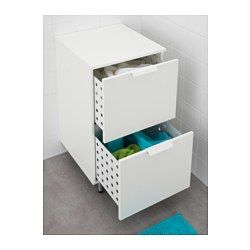 Laundry Dirty Clothes Bathroom?   You can easily see and reach your things because the drawers pull out fully. Smooth-running and soft-closing drawers with pull out stop. Adjustable feet for increased stability and protection against floor moisture.