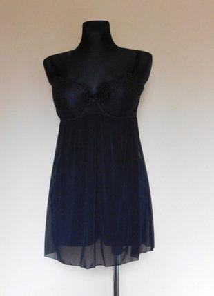 Kup mój przedmiot na #vintedpl http://www.vinted.pl/damska-odziez/bielizna-inne/15479489-next-czarna-sexy-koszulka-36-d
