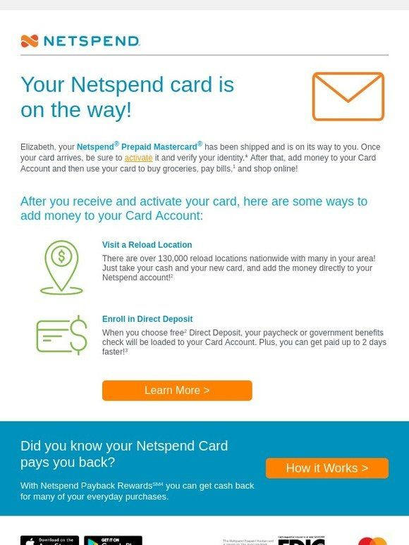 Your Netspend Card is on the way - Publishers Clearing House