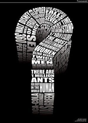 立体「?」 : 文字デザイン「タイポグラフィ(Typography)」画像集 - NAVER まとめ