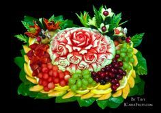Watermelon Fruit Carving by Tavy at http://icarvefruit.com