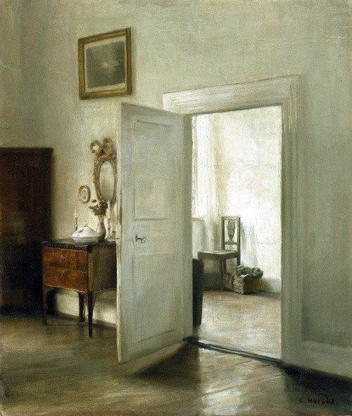 Carl Holsoe (Danese, 1863-1935): Interno