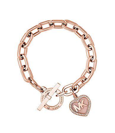 Michael Kors Valentines Day Heart Toggle Bracelet #Dillards