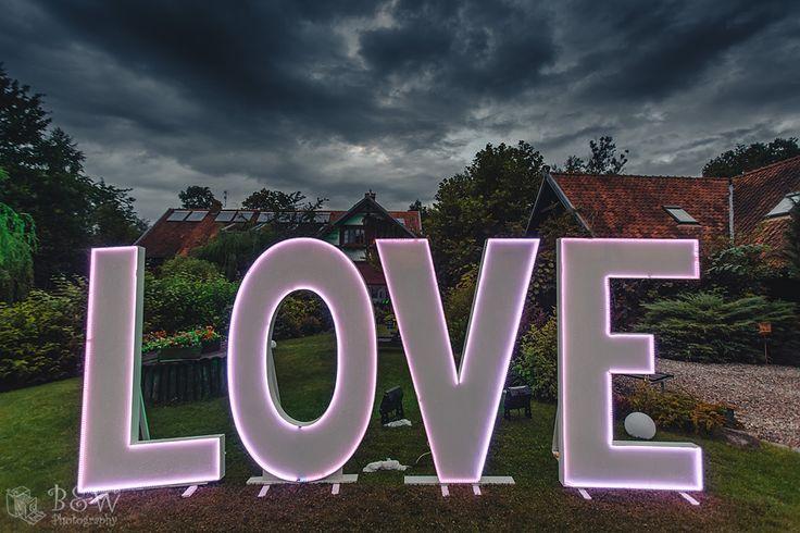 Ledowy napis love || Love LED letters