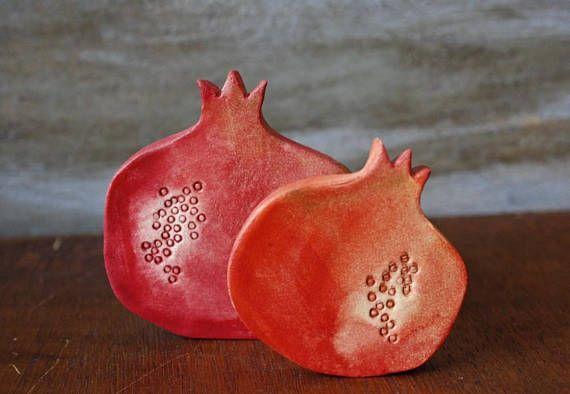 Handmade Ceramic Pomegranate Pottery Pomegranate Charm