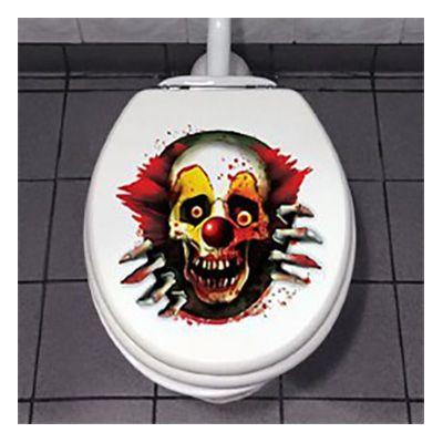 Läskig Clown Toalettdekoration - Partykungen.se