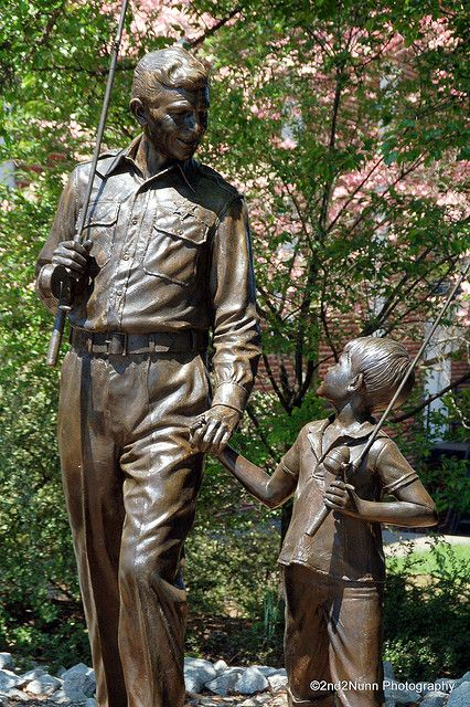 Andy and Opie Statue, Mt. Airy, North Carolina from The Andy Griffith Show