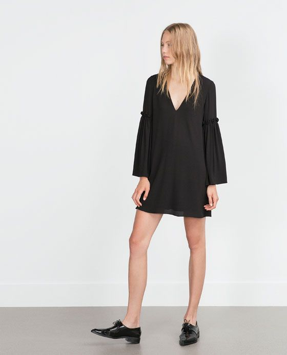 Image 4 of BELL SLEEVE DRESS from Zara
