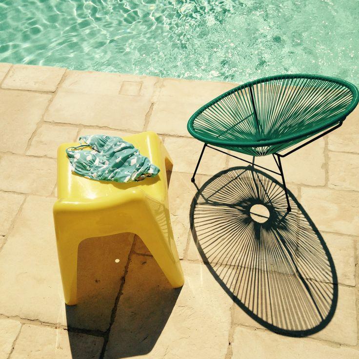 Pool - sun, shadows and Viriginia Johnson