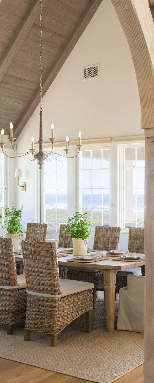 Giannetti Interiors | Coastal Dining Room Ideas
