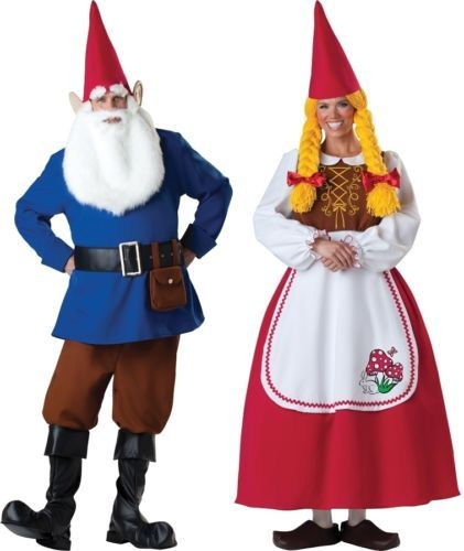 COUPLES MR AND MRS GARDEN GNOME Halloween Costume