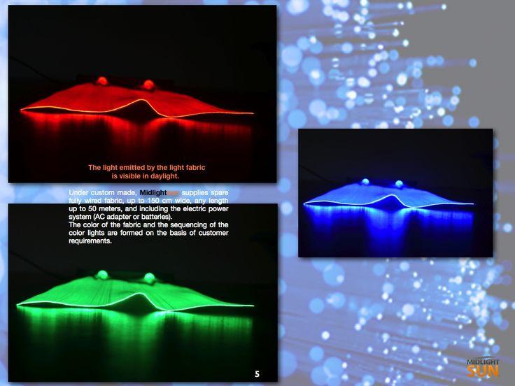 luminous fabric : glowing fabrics