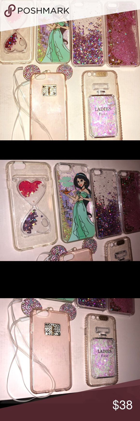 iPhone six cases with moving glitter interior iPhone 6 cases lightly used Accessories Phone Cases