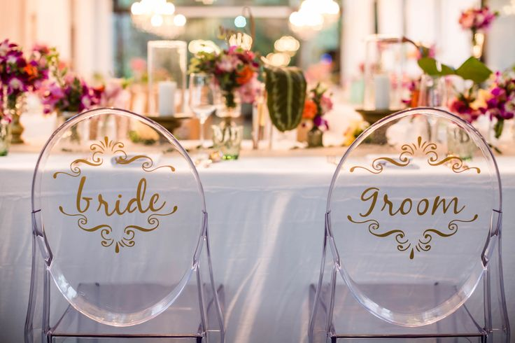 Tropical Destination Wedding A pair of Chairs for Newlywed