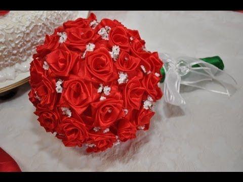 ▶ Como Fazer Rosas de Fita - YouTube
