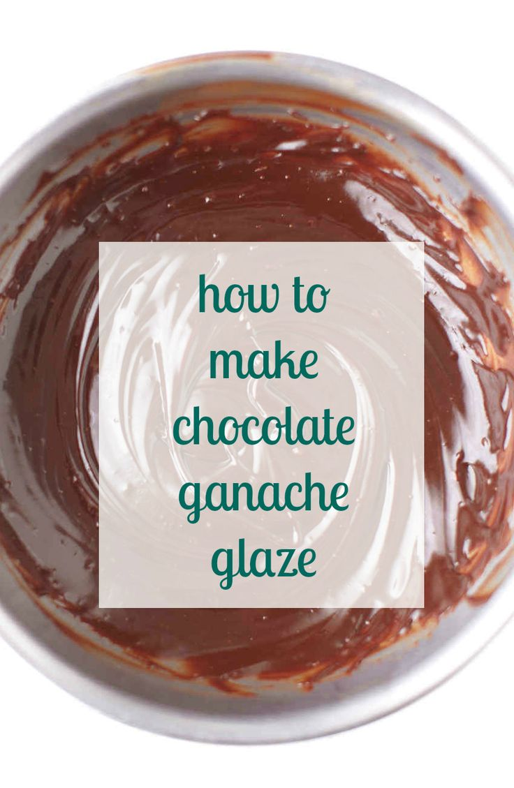 Take your cake to the next level with a simple chocolate ganache glaze.