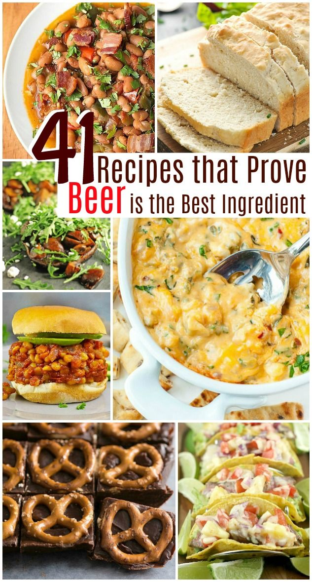 41 Recipes That Prove Beer is the Best Ingredient!  #roundup #food #recipes #beer #cooking #blog