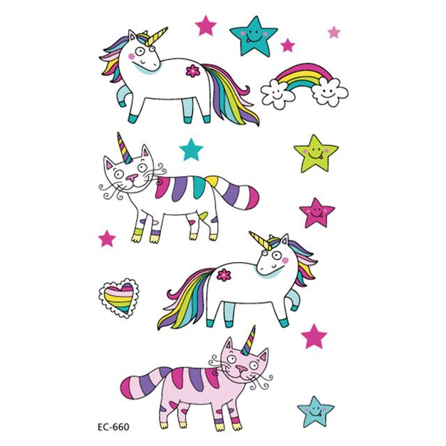 Kawaii Rainbow Unicorn Nugget Vinyl Sticker Unicorn Logo Kawaii