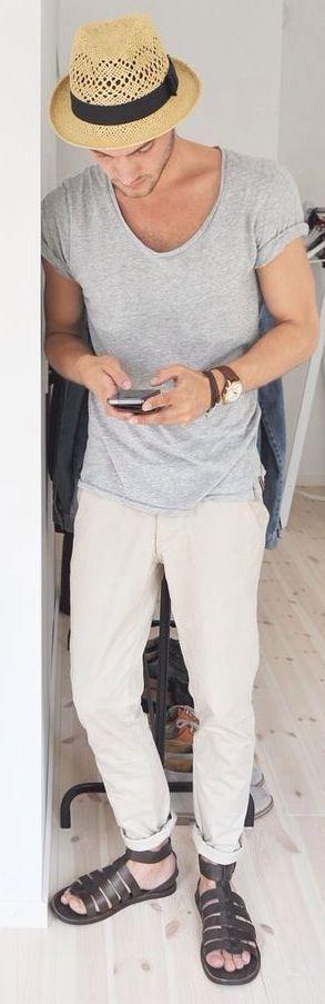 Sandalias masculinas (4) –Homens com estilo