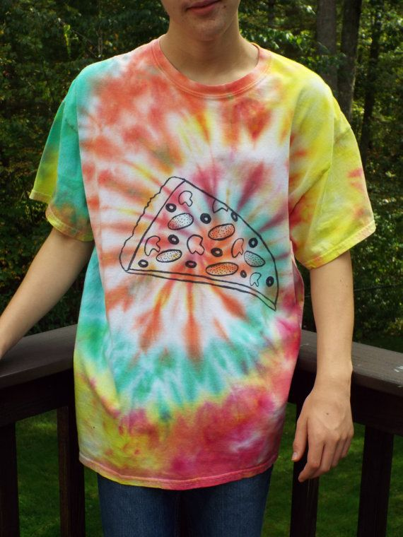 Tie Dye Pizza Tshirt XL from Anything on a Tie Dye at CreationsbyMaris https://www.etsy.com/listing/250433207/tie-dye-pizza-tshirt-xl-pizza-lover
