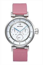 Issey Miyake W-Mini White Face Pink Band Watch SILAAB06