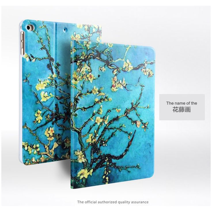 Fashion 3D relief painting  Case For ForFor Apple iPad Air 2/iPad 6(2014) 9.7 Smart Stand tablet Cases For iPad Air2 Cover