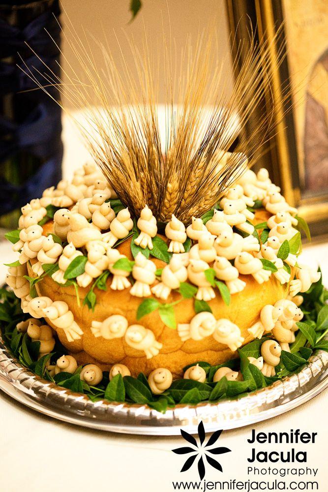 Traditional Ukrainian wedding cake  Vermilion, Alberta wedding photographer